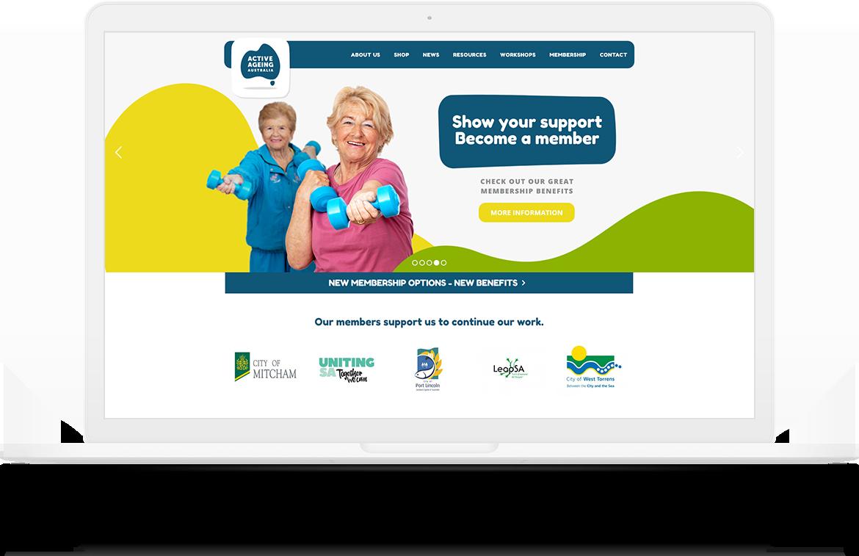 Active Ageing Australia Website Design