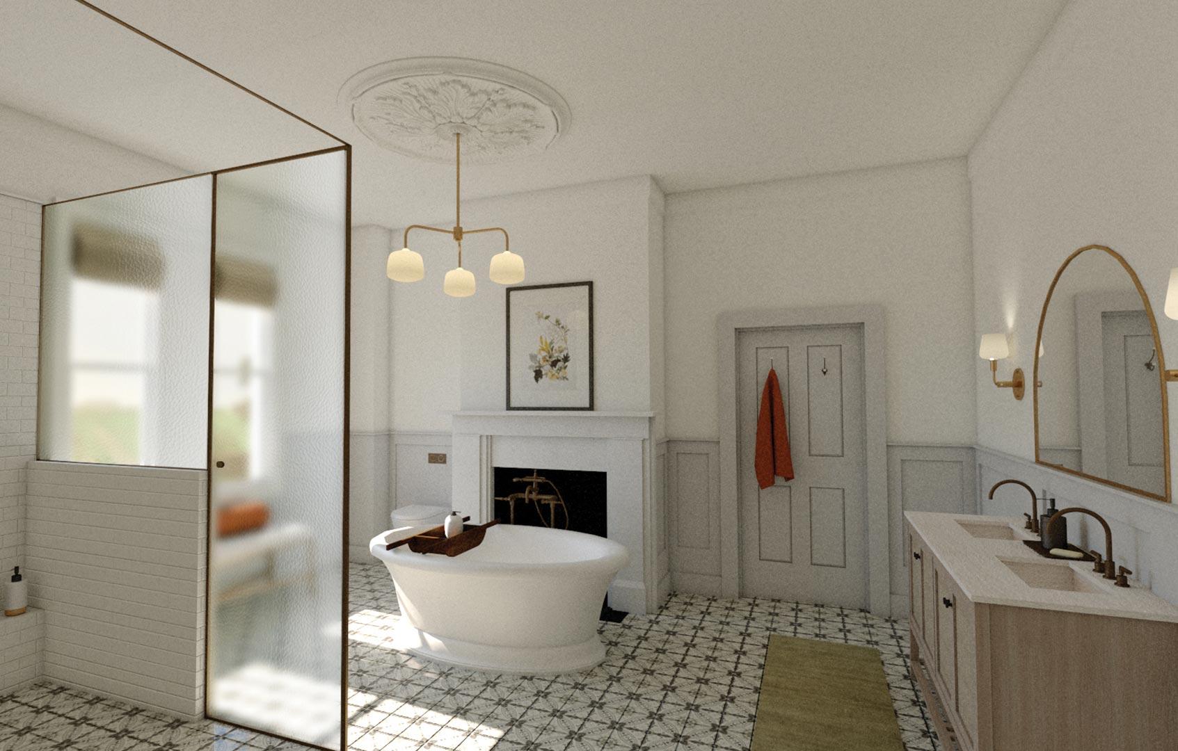 3D Architectural Visualisation Adelaide Bathroom