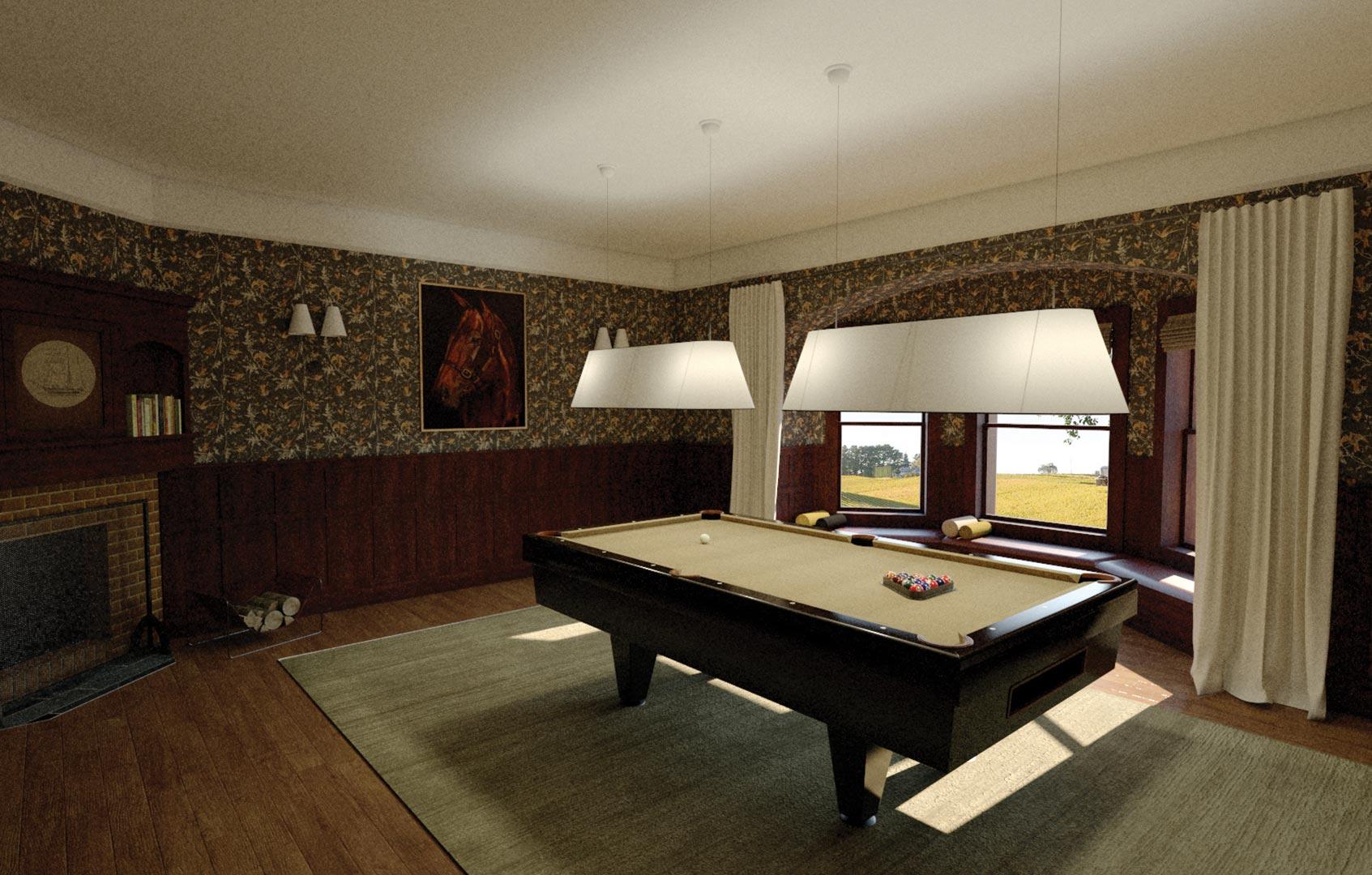 3D Architectural Visualisation Adelaide Billiards Room