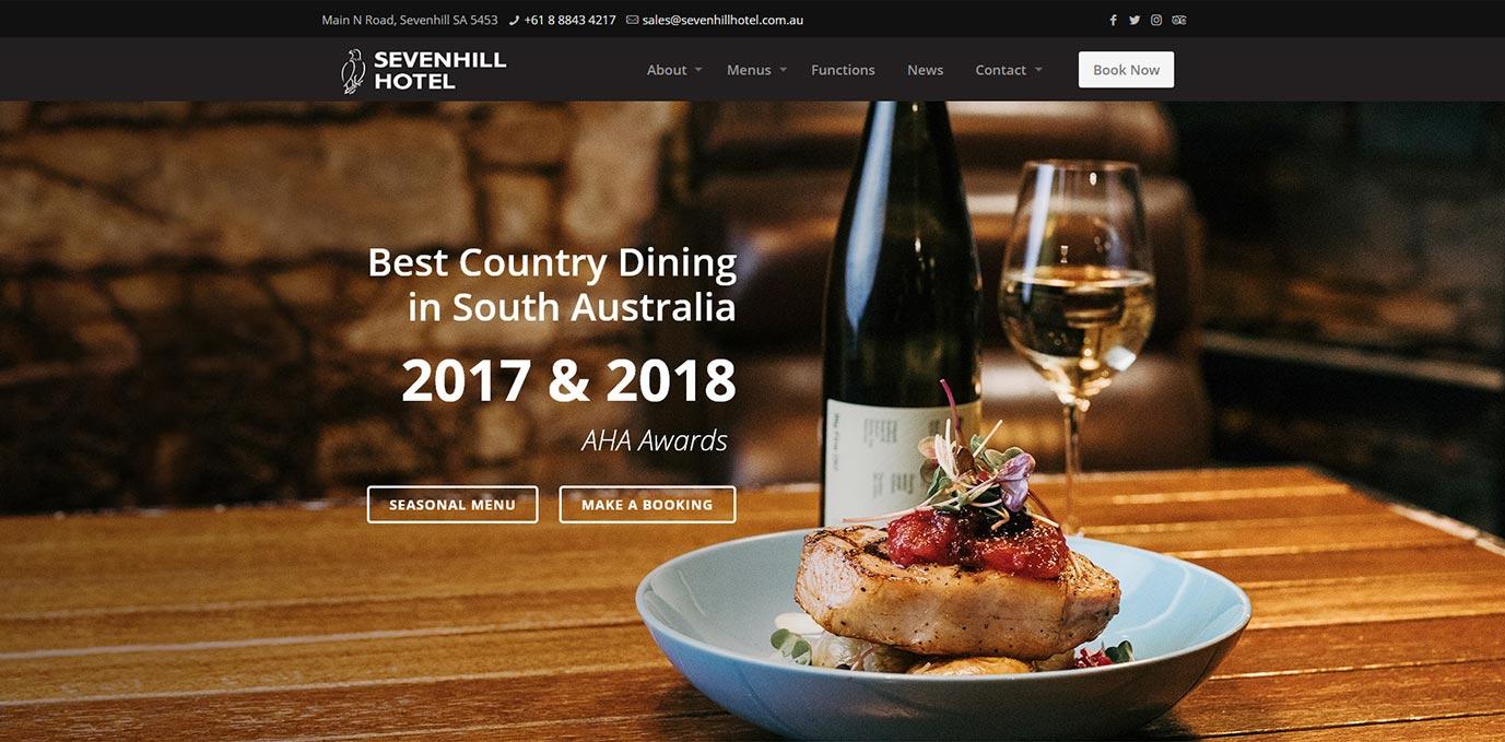 Seven Hill Hotel Website