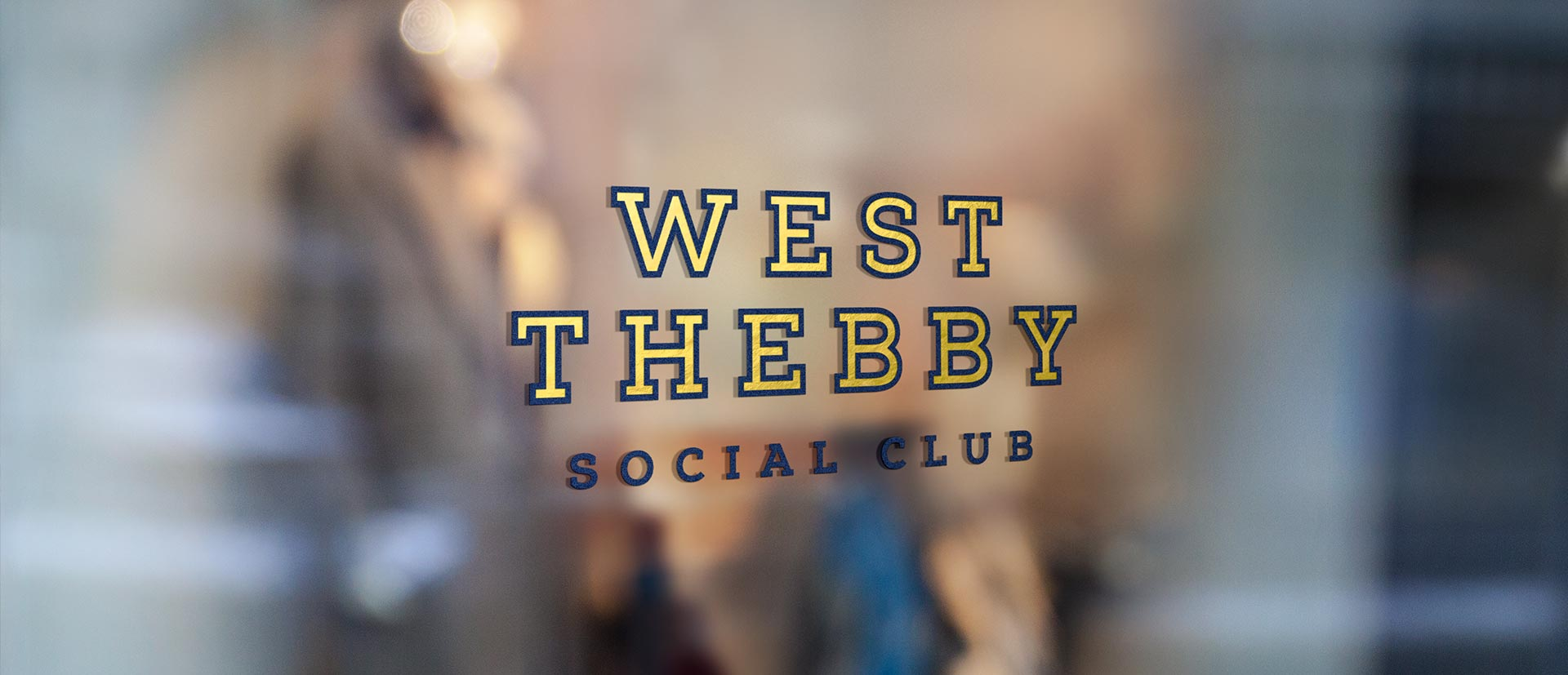 West Thebby Social Club Window Decal