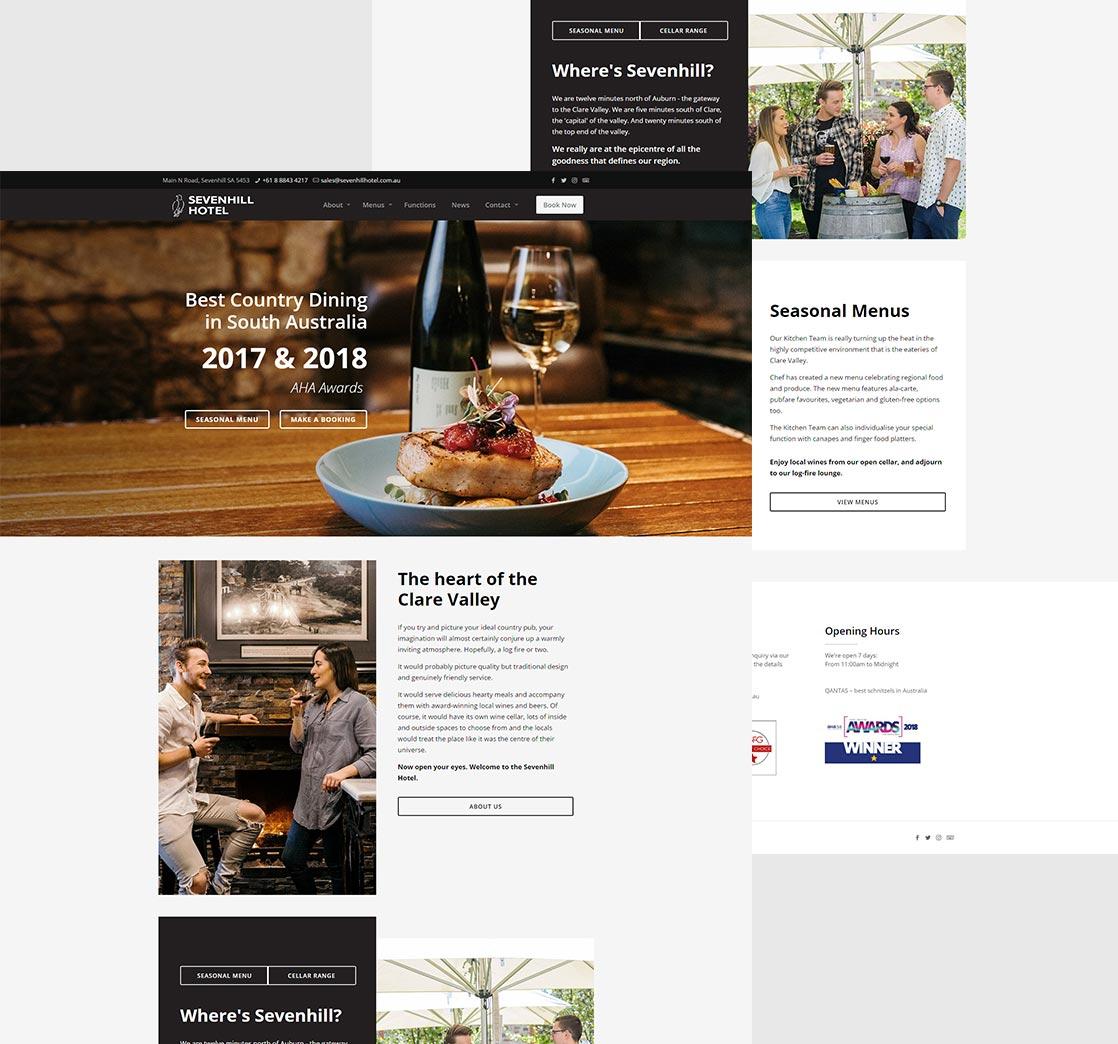 Sevenhill Hotel Website