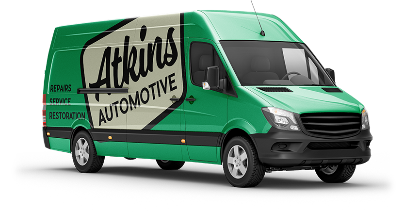 Atkins Automotive Van Decal