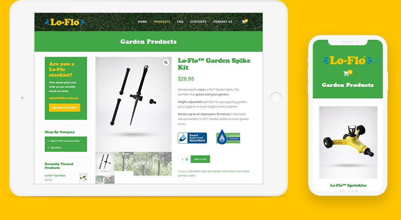 Lo-Flo Sprinkler Website
