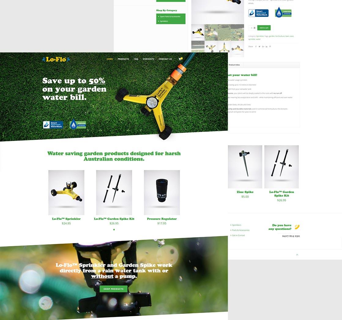 Lo Flo Sprinkler Website