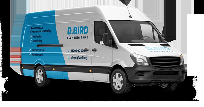D.Bird Plumbing & Gas Van