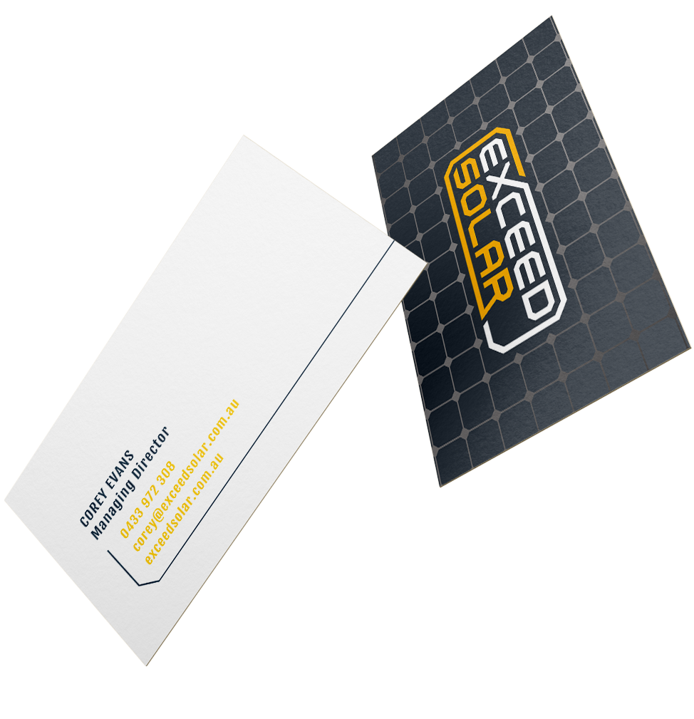 Exceed Solar Business Card