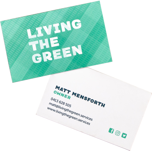living-the-green-business-cards